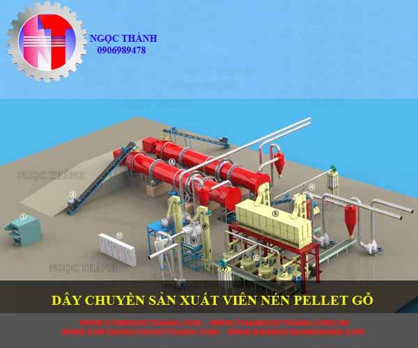 dây chuyền sản xuất viên nén pellet gỗ